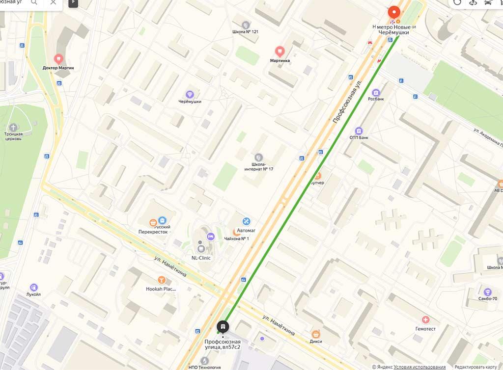 Карта_проезда Яндекса